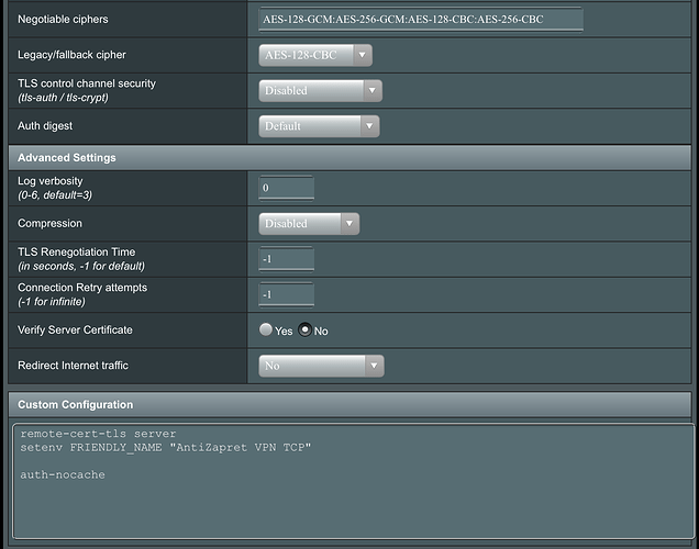 ASUS Wireless Router RT-AC56U - OpenVPN Client Settings 2